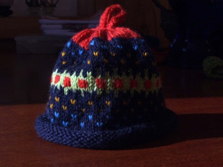 Ambrose Fair Isle baby hat