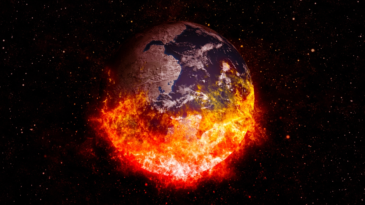 What does Mother Earth look like when she's burning up and angry ?